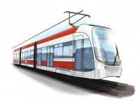 designová kresba tramvaje