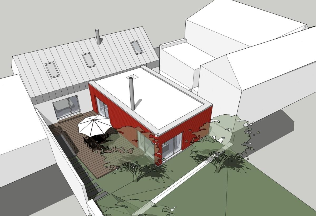 návrh přístavby domu