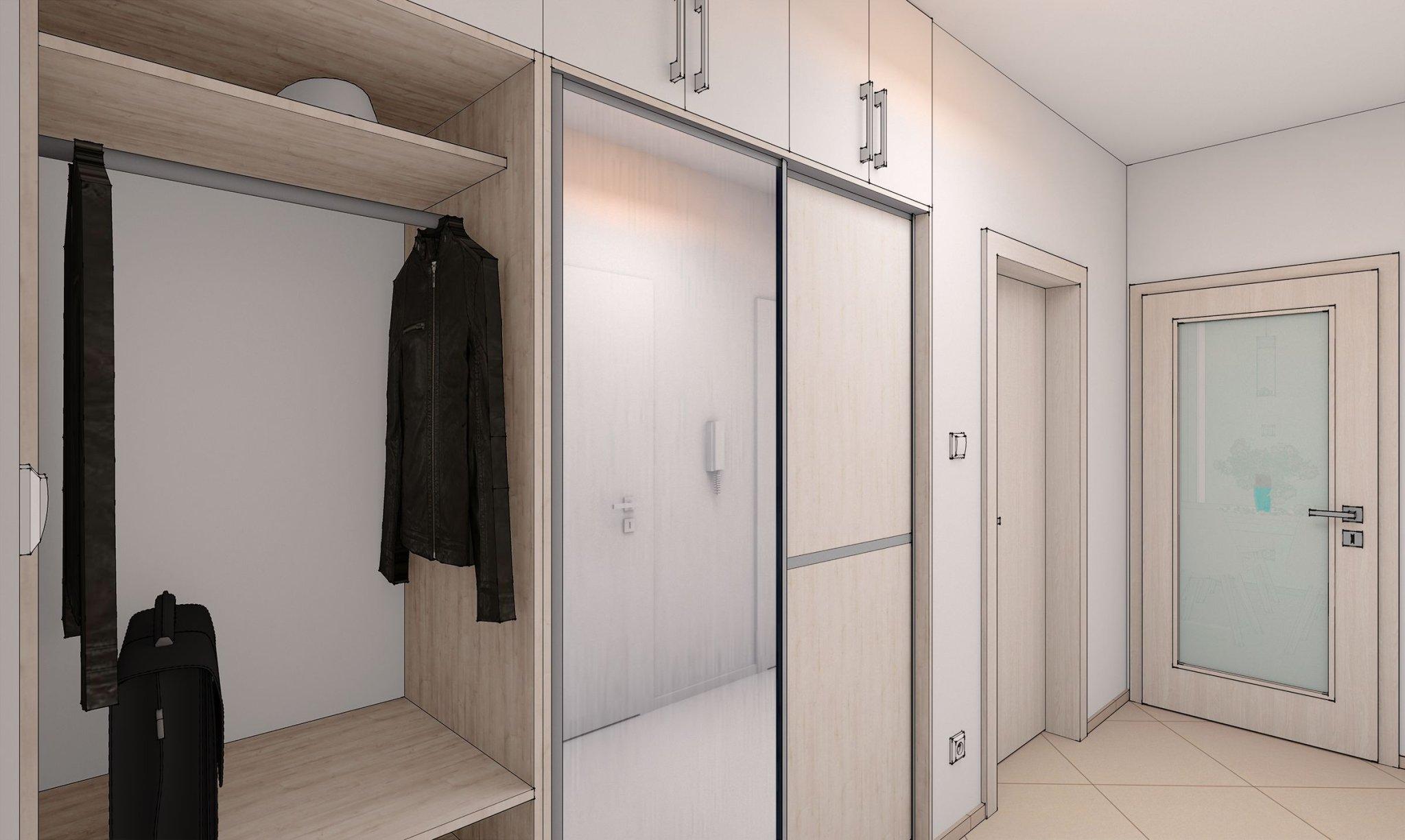 návrh interiéru předsíně bytu