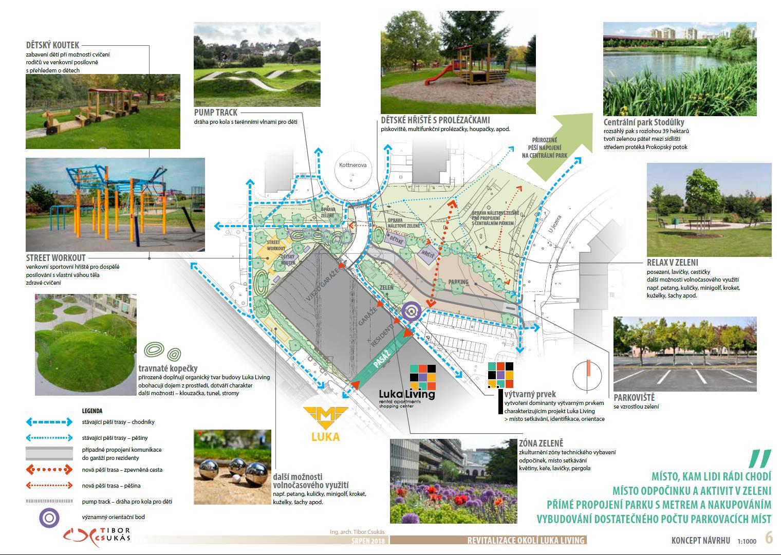 návrh revitalizace okolí bytového domu Luka Living